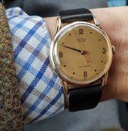 Armbanduhr 40iger Jahre Handaufzug Swiss