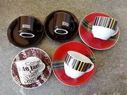 Espressotassen 5 Stück mit UT
