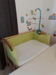 Beistellbett Babybett Wiege Holz Natur