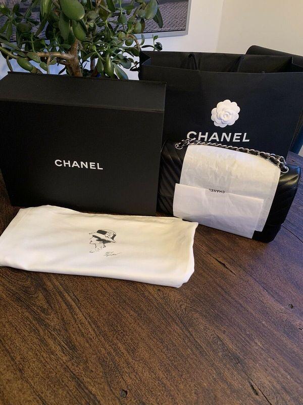 Original CHANEL Jumbo Tasche Chevron