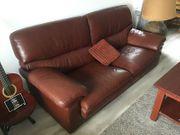 2x Couch Sofas echtes Leder