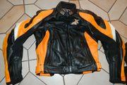 IXS Lederkombi XR schwarz orange