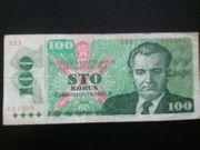 Banknote 100 Korun Czechoslovak