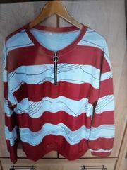 Sweatshirt rot- Weiß