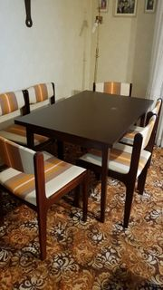 Esstisch 6 Stühle Mahagoni