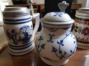 Keramik Porzellan-Bierkrüge
