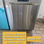 Samsung Unterbau Geschirrspüler A Neuware