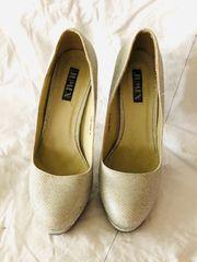 silberne High Heels von Jumex