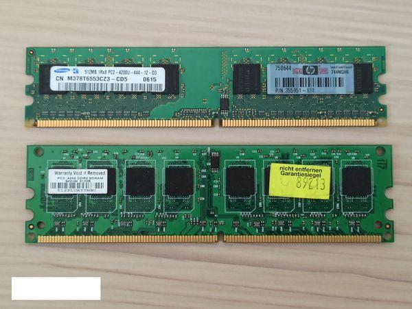 DDR2 1GB 2 x 512MB