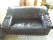 Zweisitzer Couch in Schwarz