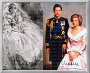 Prinzessin Diana Kunstwerk Signiert von
