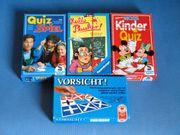 4 verschiedene Spiele für Kinder