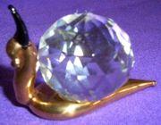 Schnecke Figur Glas Bleikristall NEU