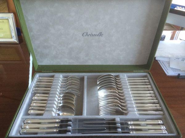 Christofle Aria 925 Sterling Silber 30 Teile Komplettbesteck für 6 Personen