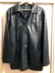 Damen-Lederjacke schwarz