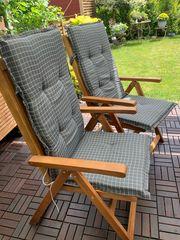 6 Auflagen für Hochlehner Gartenstühle