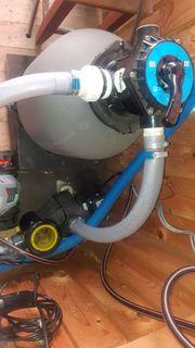 Sandfilter und Pumpe für Pool
