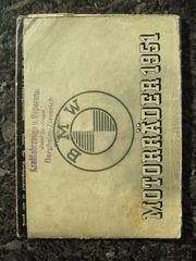 BMW Motorräder 1951 Verkaufsprospekt -Faltblatt-
