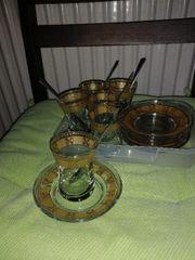 türkisches tee set glas mit