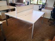 Doppel-Arbeitsplatz T-Workstation Bene Schreibtisch Bürotisch