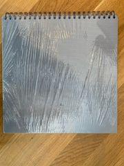 9 Spiral Fotoalben grau Textil