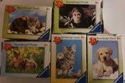 5 Mini-Puzzles Tiere