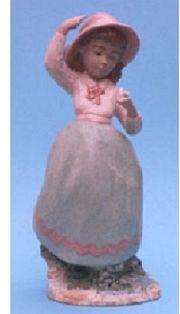 Keramik - Figur - Mädchen mit Rose