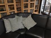 Ecksofa aus Leder mit Sessel