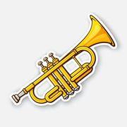 Routinierten Trompetist in männlich weiblich
