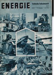 Energie - Technische Fachzeitschriften 1940 Hefte