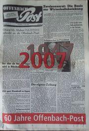 Fundstück Sonderausgabe 60 Jahre Offenbach-Post