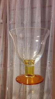 großer Glaskelch Kelch Pokal Glasschale