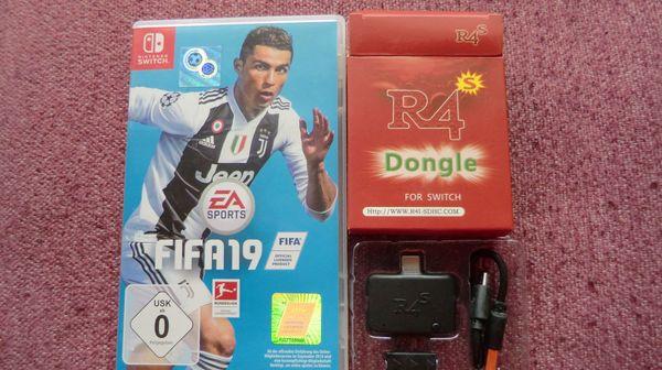 NIntendo Switch Spiel FIFA 19 und RCm Loader R4s