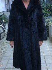 Nerz-Mantel Gr 38-40 braun-schwarz elegant