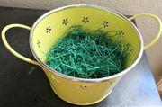 Schüssel Henkelbehälter Osterkorb gelbgrün mit