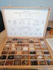 Gesteinskunde mit passenden Gesteinsmustern und