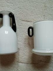 2 Glasvasen schwarz weiß