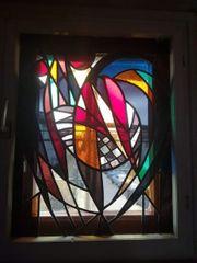 Alte Mosaikholzfenster 71 5x89 00