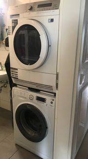 Set Waschmaschine Trockner Zwischenbaurahmen AEG