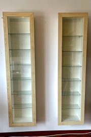 2x IKEA Wand-Vitrinen zu verschenken
