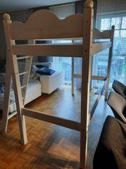 SALE - Kinderhochbett weiß aus Massivholz