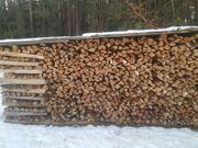 Ofenfertiges Brennholz Feuerholz Kaminholz gespaltet