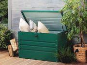 Auflagenbox Stahl dunkelgrün 100 x
