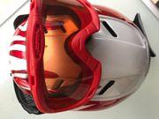 Alpina Ski-Helm -Brille rot weiss