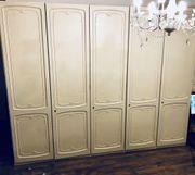 Kleiderschrank Hülsta Weiß Chippendale Stil