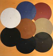 Echt Leder Plattenteller Auflagen in