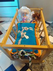 Verkaufe Baby Puppen Bett Wiege