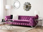 3-Sitzer Sofa Samtstoff violett SOTRA neu