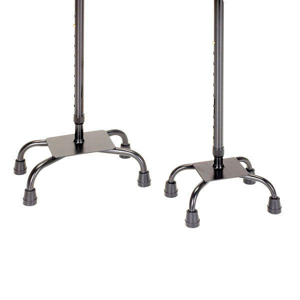 4-Fuß Gehstütze Schaumgummigriff Antirutschkappen Höhenverstellbar