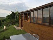 Mobilheim mit Anbau auf Dauercampingplatz